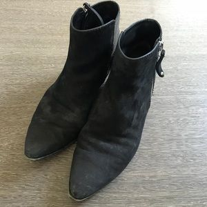 Sigerson Morrison Black Suede/Leather boots 6 1/2
